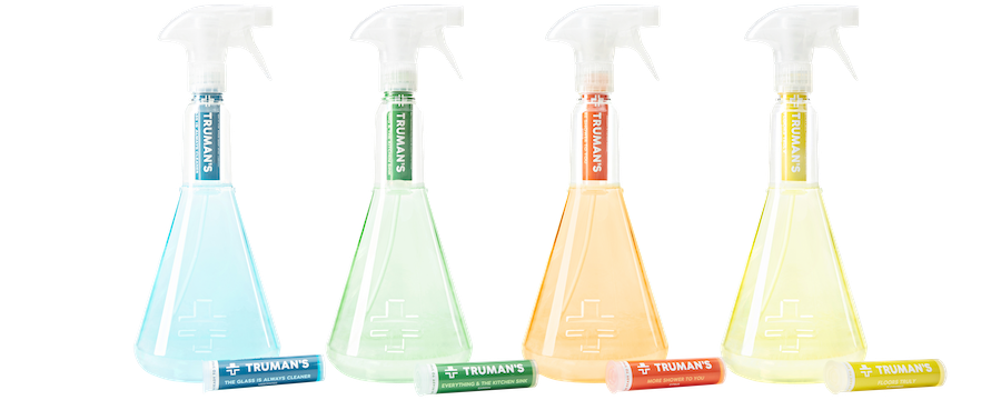 truman's non-toxic starter kit house cleaning solution