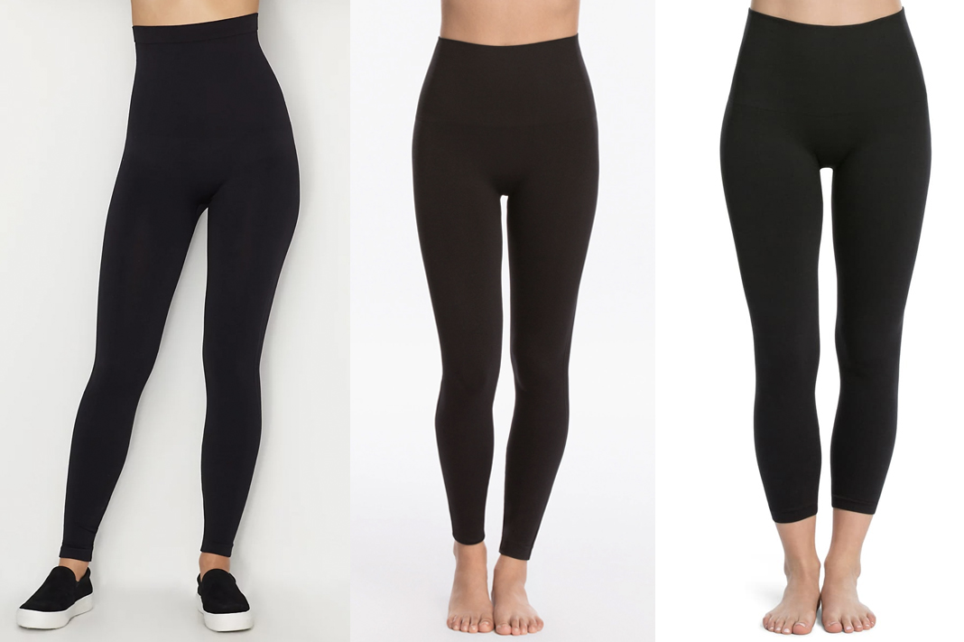 SPANX look at me now seamless black leggings