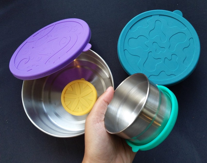 eco lunch box reusable sustainable silicone steel food containers