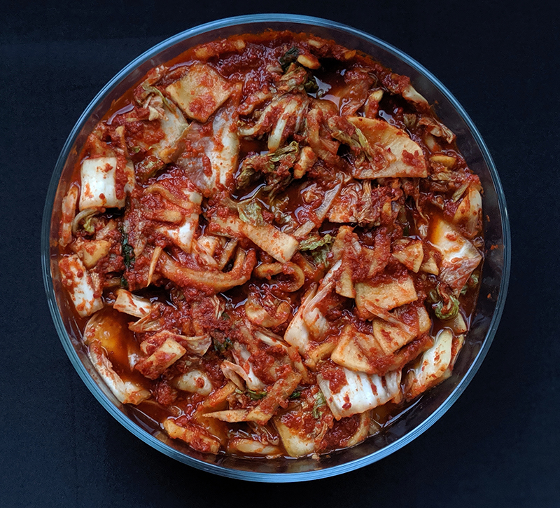 fast and easy kimchi recipe waiting to ferment