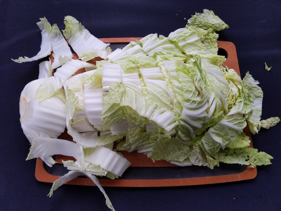 kimchi recipe chopped napa cabbage ingredient