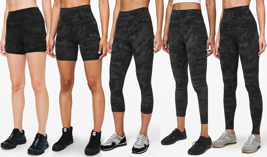 lululemon Align Pant Crops and Shorts Incognito Camo Multi Grey ICMI