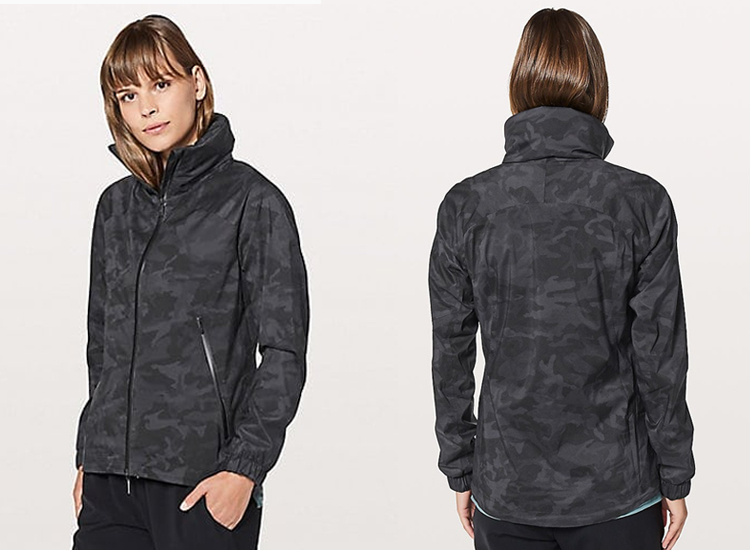 lululemon Here to Move Jacket Incognito Camo Multi Grey ICMI