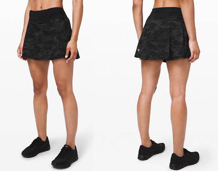 lululemon Pace Rival Skirt incognito camo gray icmi