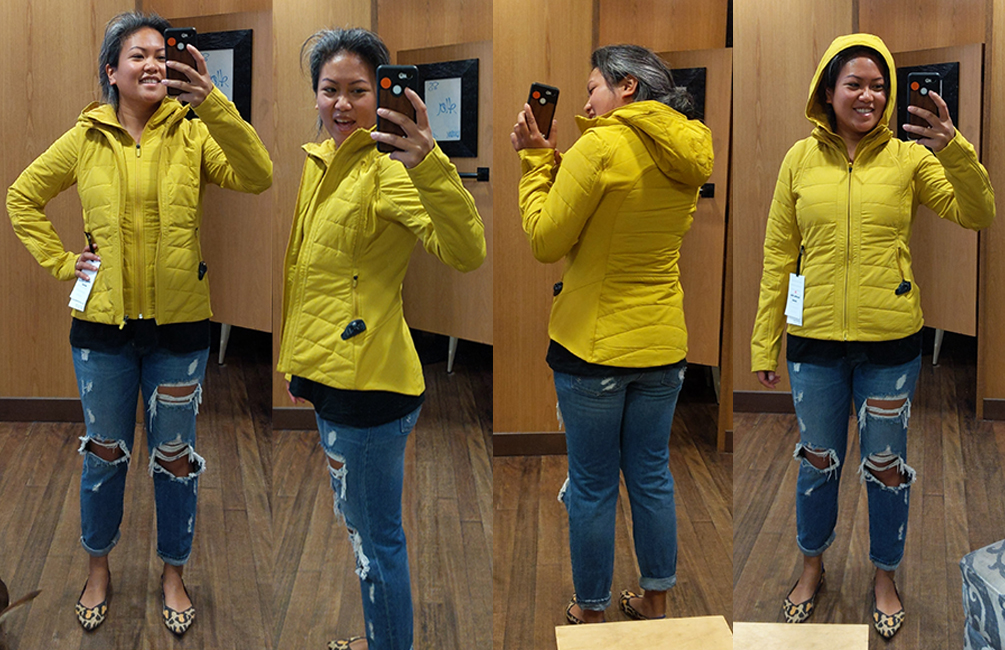 lululemon another mile jacket in honey lemon schimiggy reviews