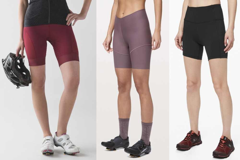 lululemon biker shorts city to summit leader of the pack and fast and free shorts