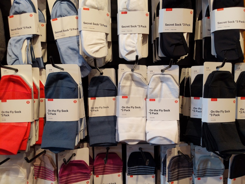 lululemon charleston sc store womens socks