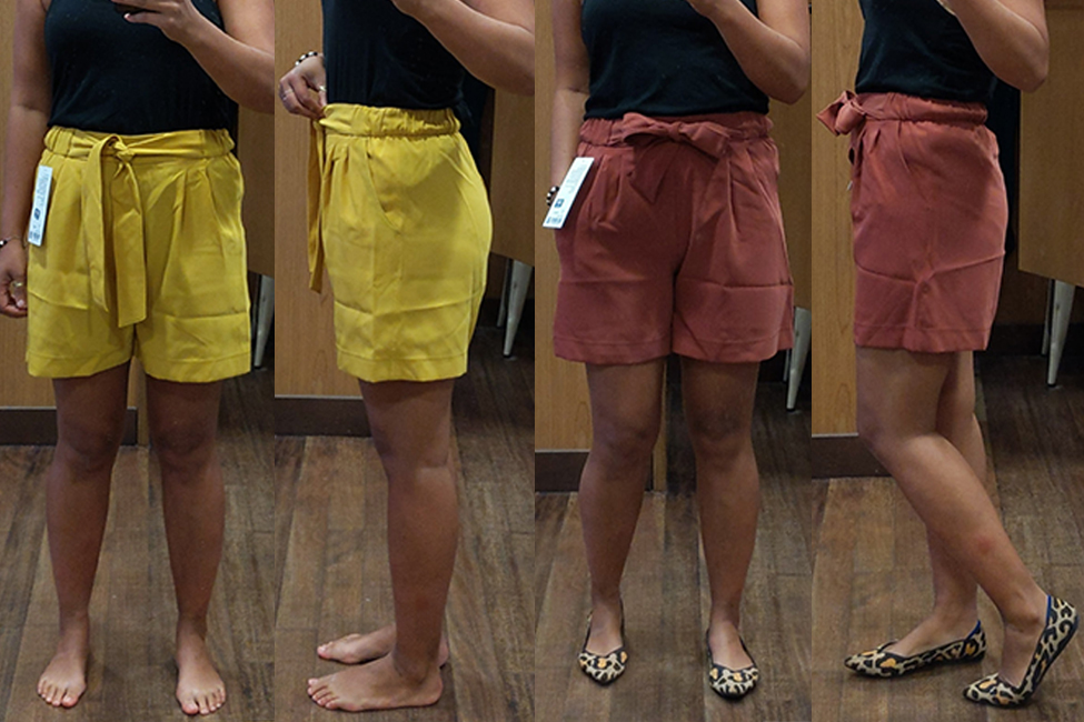lululemon noir shorts review yellow and adobe