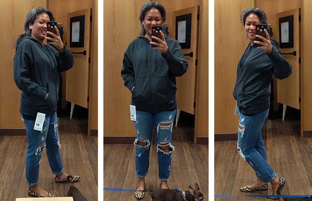 lululemon ready to roll hoodie try on and review schimiggy