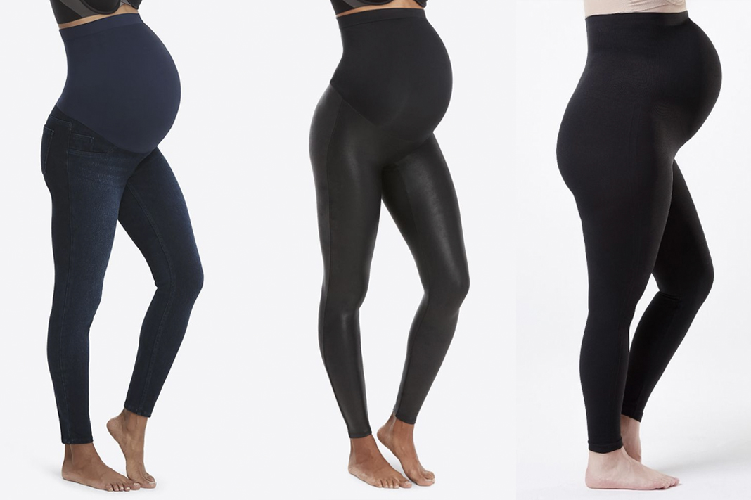 spanx maternity leggings and denim jeggings