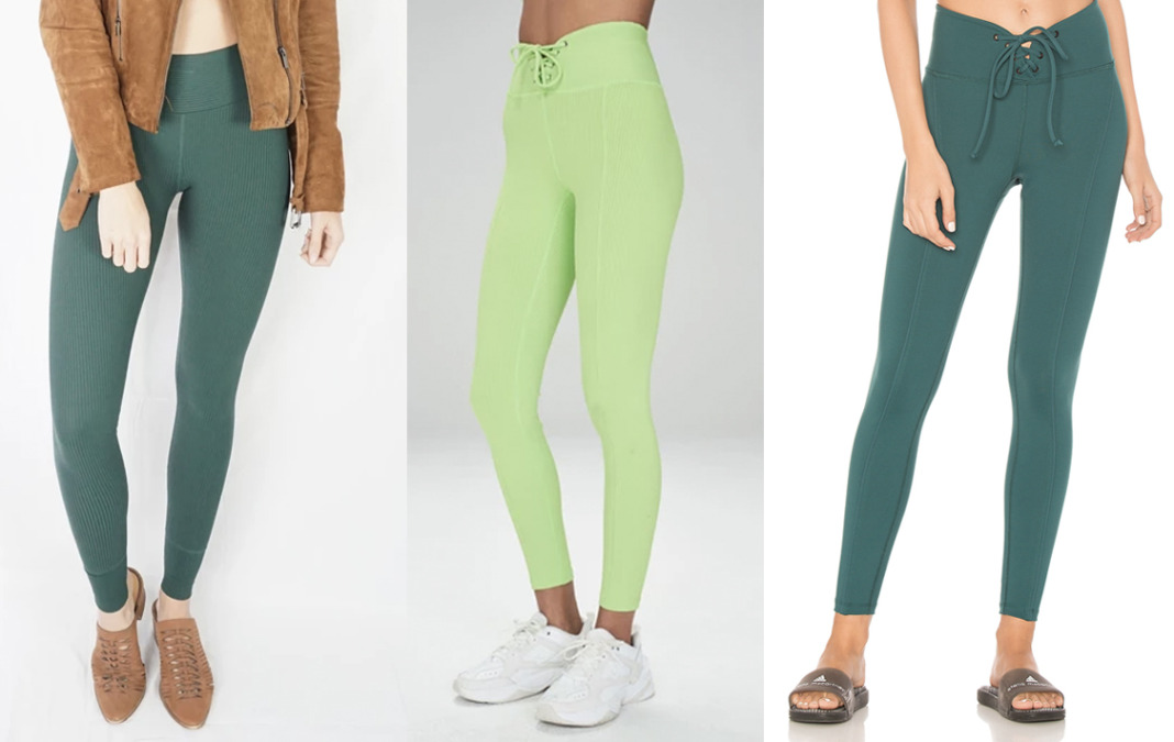 year of ours green leggings ribbed football tights