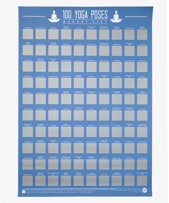 yoga products for teens yoga scratch off poster
