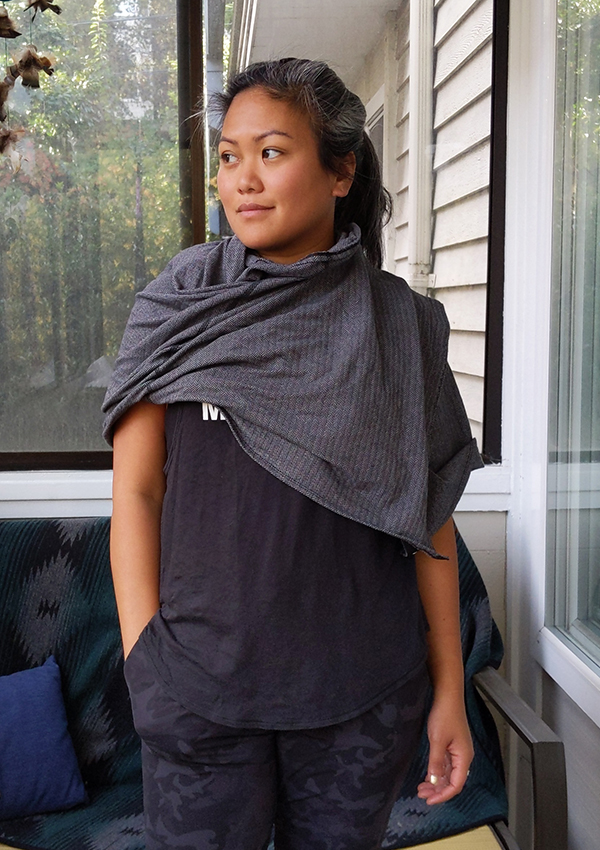 How to Wear lululemon Vinyasa Scarf Over Shoulder Wrap Shawl