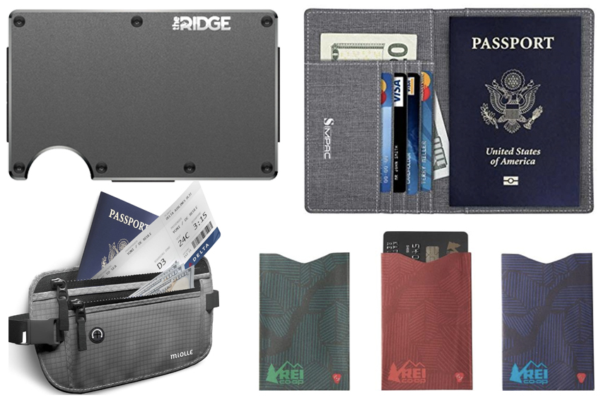 RFID Blocking Accessories wallet money belt and bags