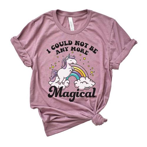 alley and rae I couldn't be more magical unicorn t-shirt
