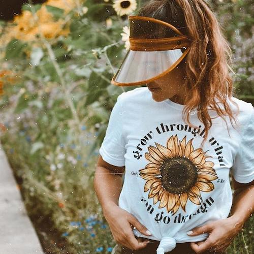 alley and rae grow through what you go through t-shirt