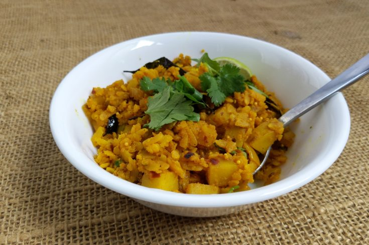 Aloo Poha Recipe Vegan Indian Breakfast