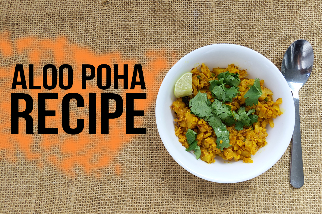 Aloo Poha Recipe Indian Vegan Breakfast