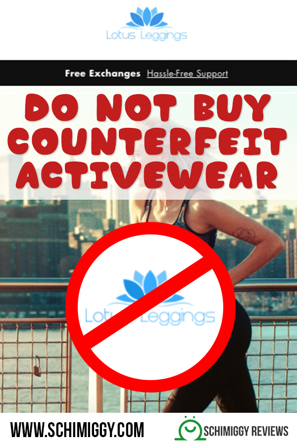 do not buy counterfeit activewear lotus leggings