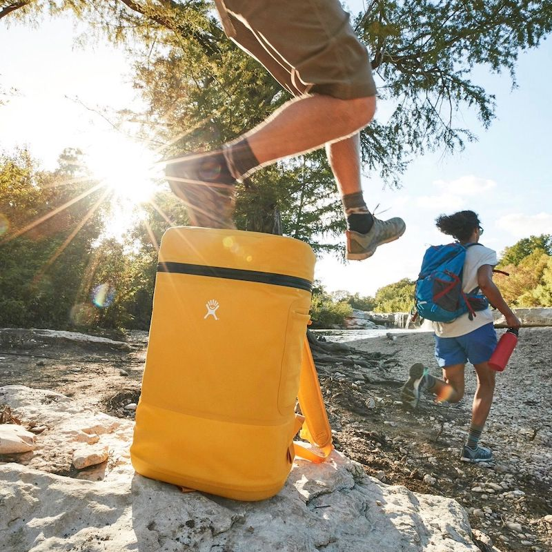 hydro flask unbound series cooler backpack goldenrod