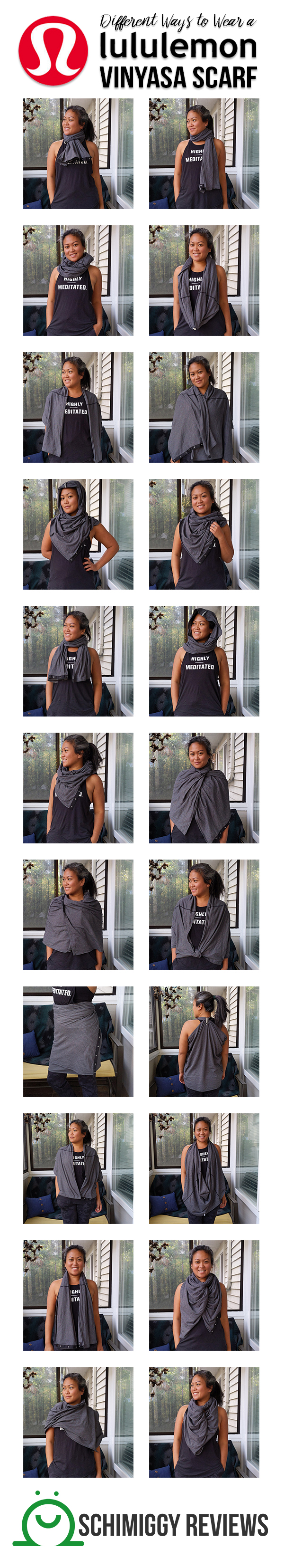 Different Ways to Wear a lululemon Vinyasa Scarf | Schimiggy Reviews