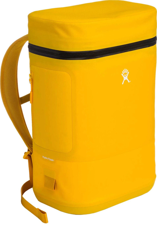 Hydro Flask Unbound Cooler Backpack 22L Goldenrod Yellow angle