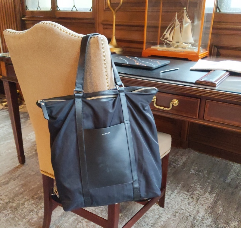 Sandqvist Marta Backpack hanging from desk chair