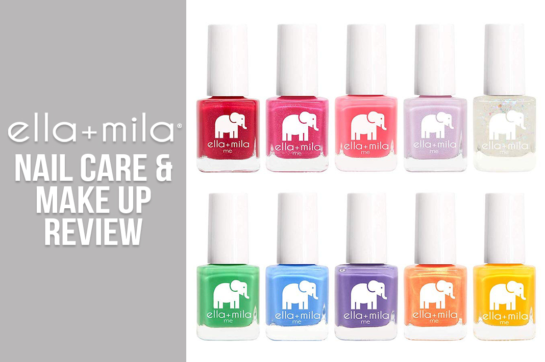 ella + mila nail polish and make up review