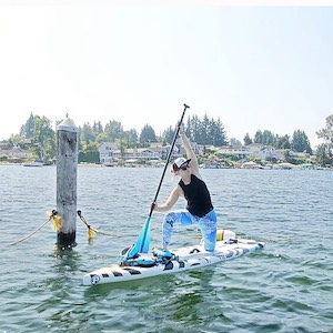 keeley maroney Seattle sup board yoga instructor