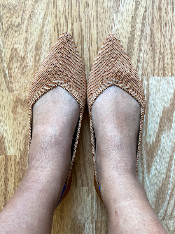 sheec socks when worn with Rothy points