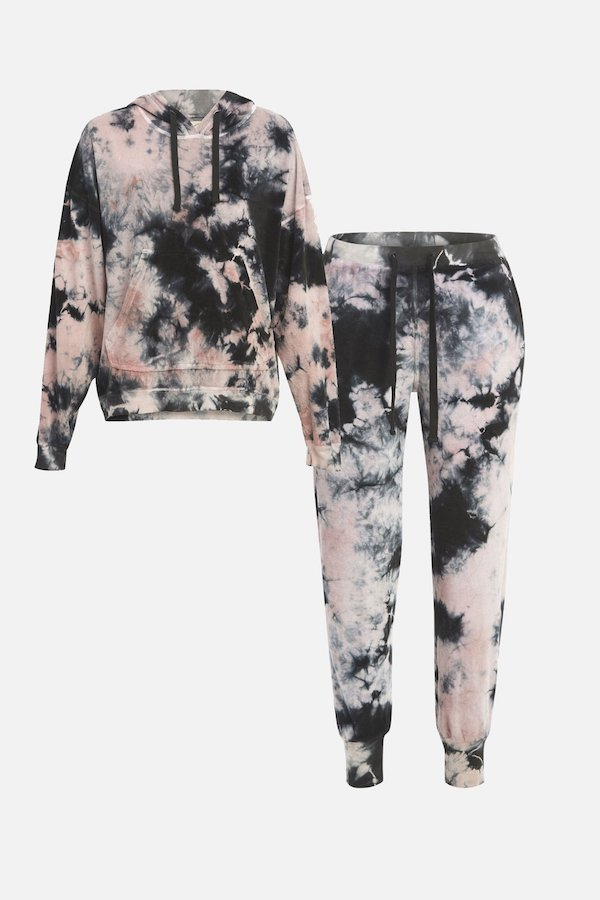 Electric and Rose Pink Sweatsuit Jogger Set