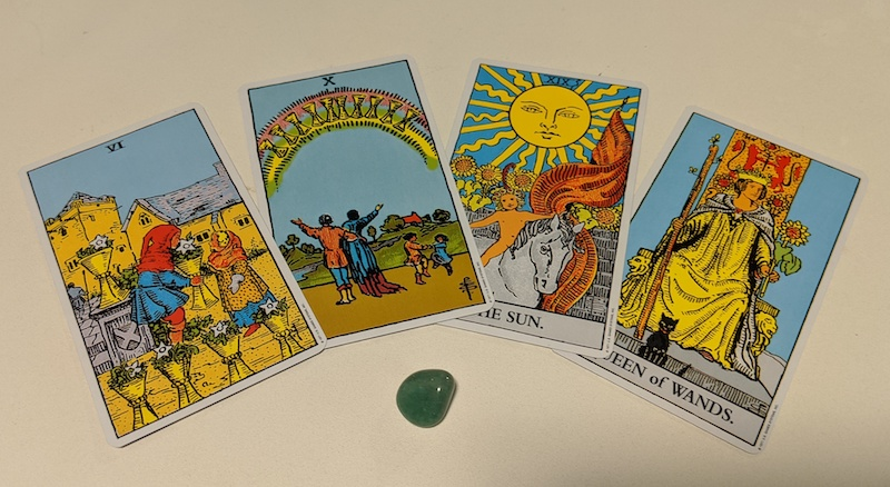 Rider Waite tarot spread of positivity schimiggy