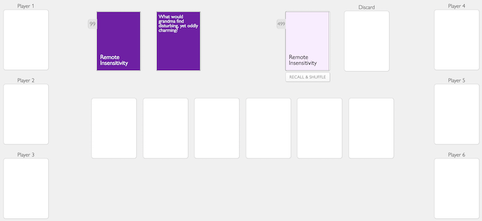 remote insensitivity CAH card game online