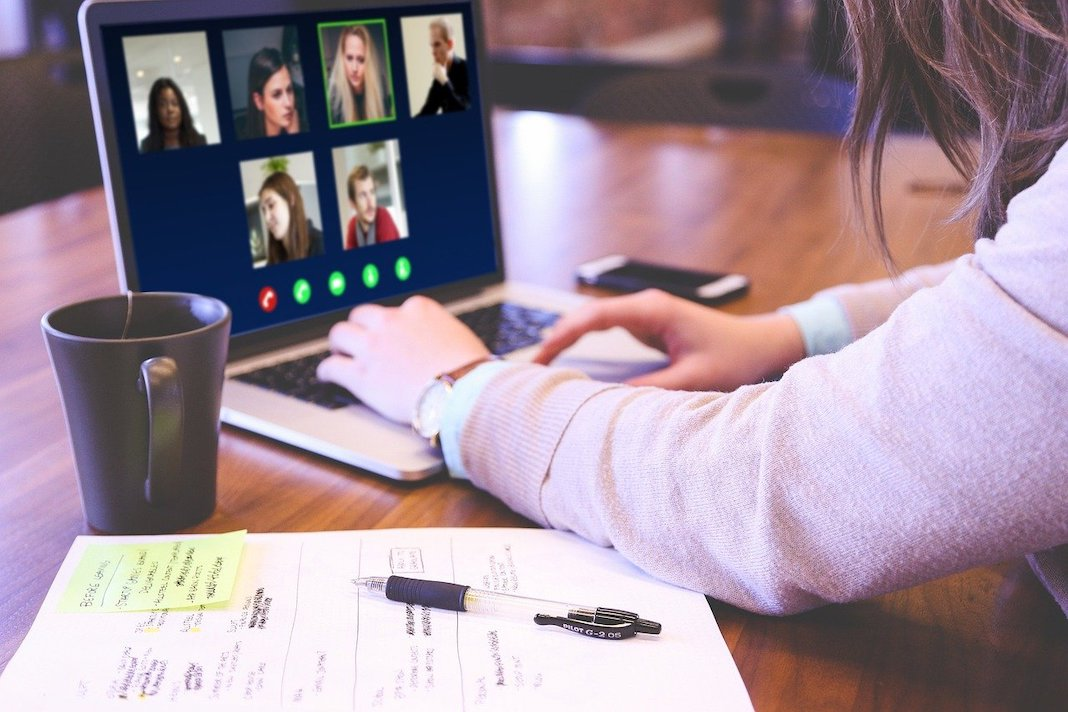 connecting with friends and family via video chat