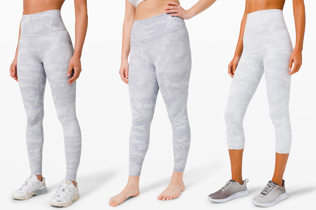 lululemon wunder under pant Incognito Camo Jacquard Alpine White Starlight