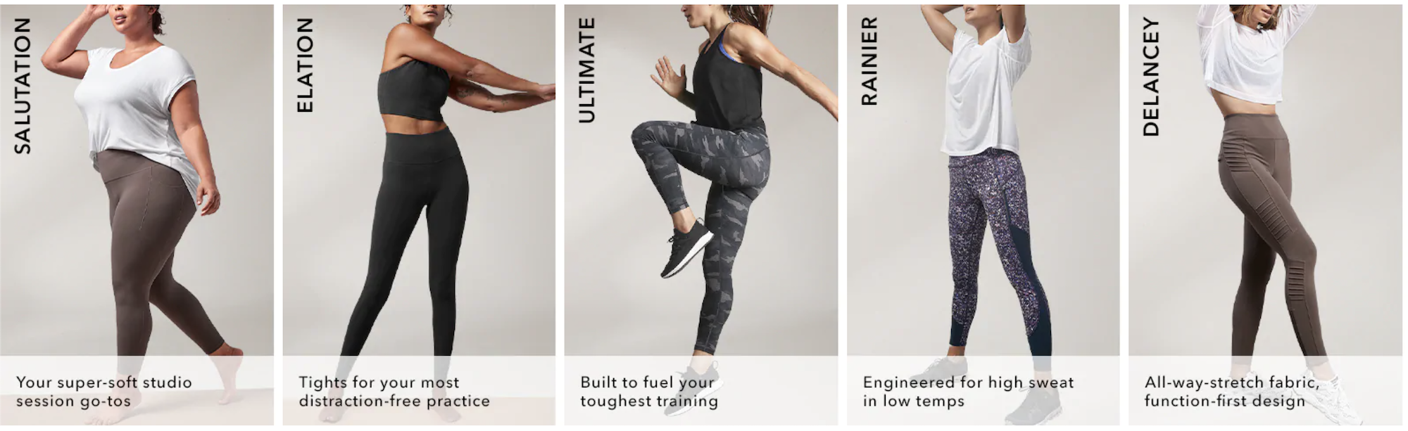 Athleta Bottoms Guide