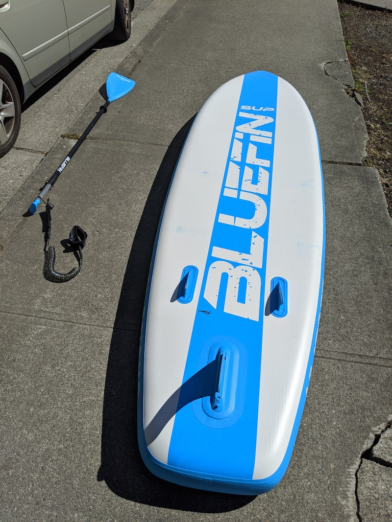 bottom of bluefin cruise SUP board