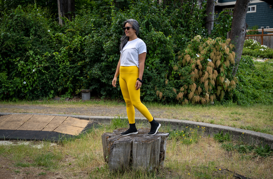 carbon38 ribbed leggings review saffron yellow