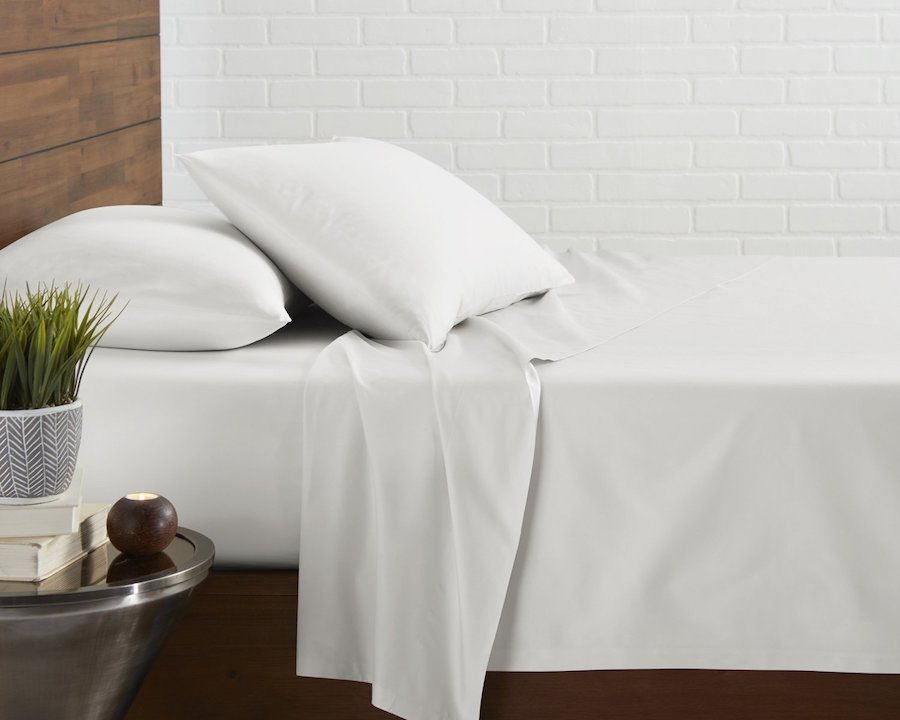 hulyahome satin bedsheets white