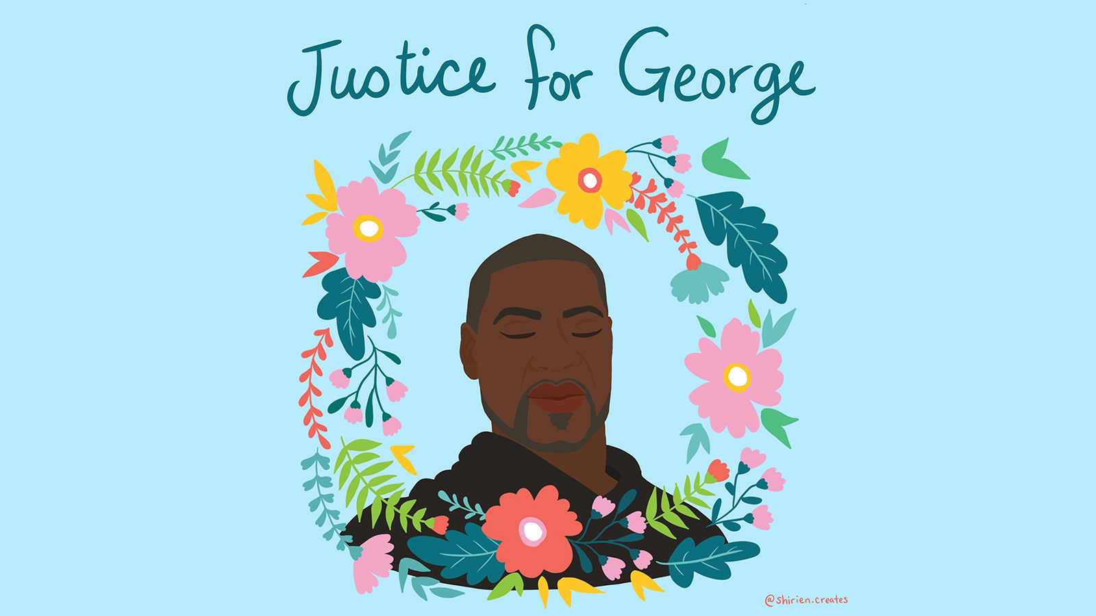 justice for george floyd art