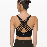 lululemon free to be moved long line bra black
