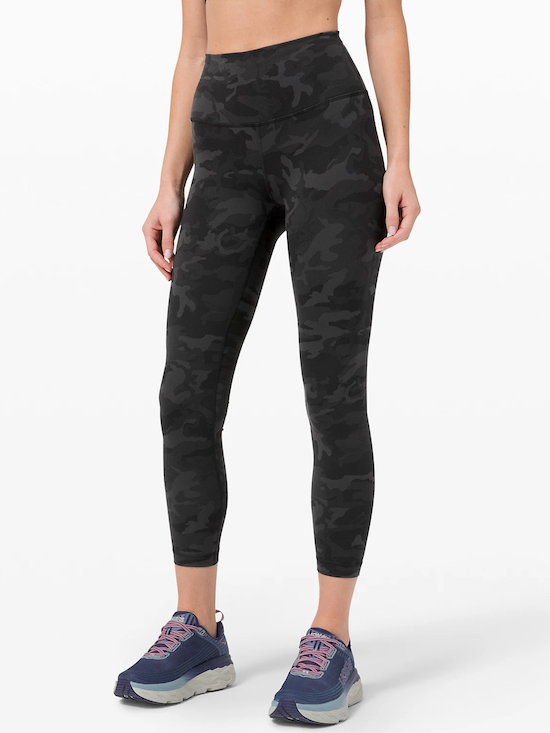 lululemon wunder train tights in incognito camo multi grey