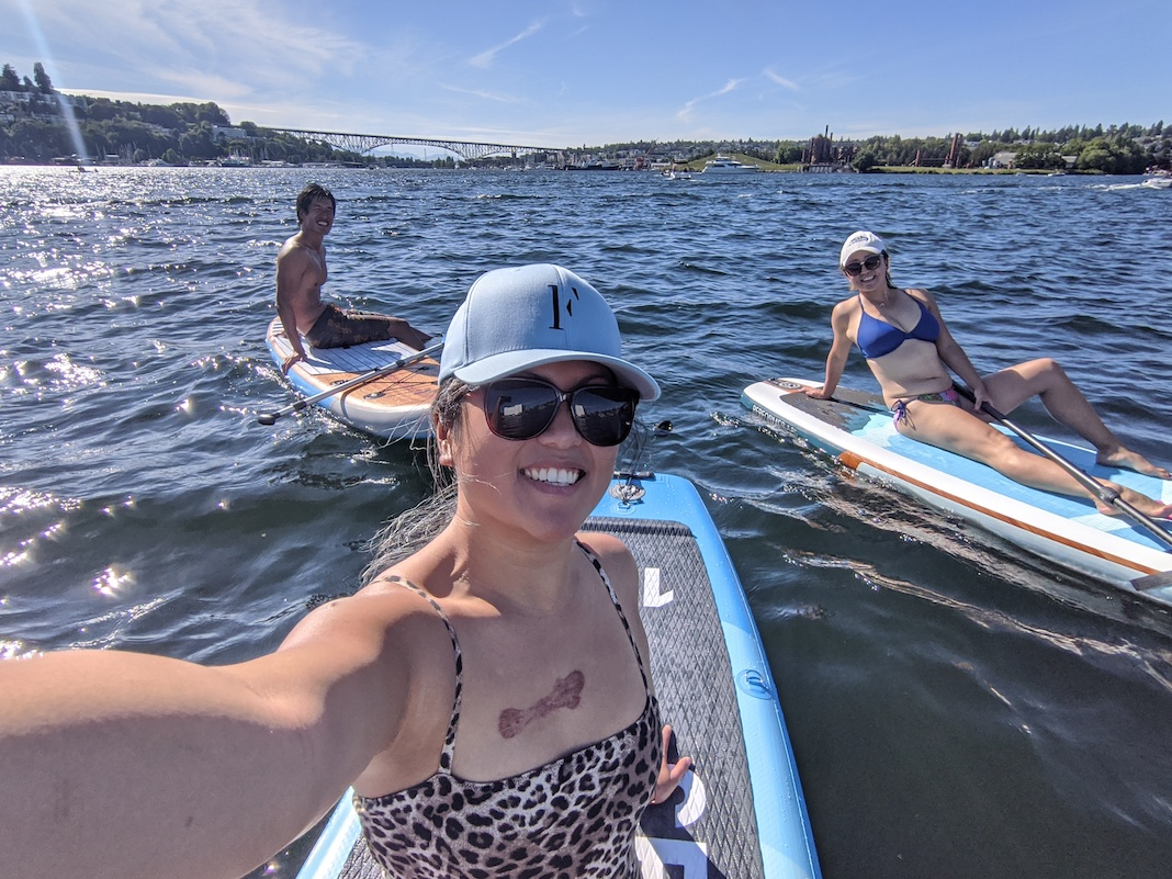 stand up paddle board on lake union washington