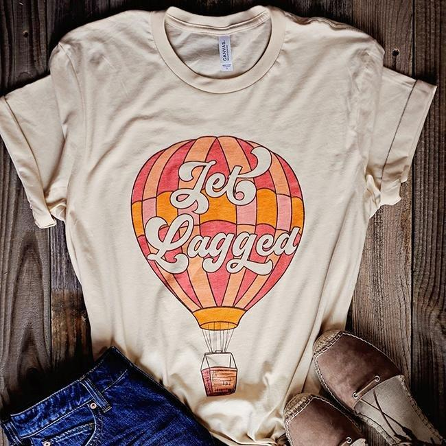 alley and rae jet lagged t-shirt