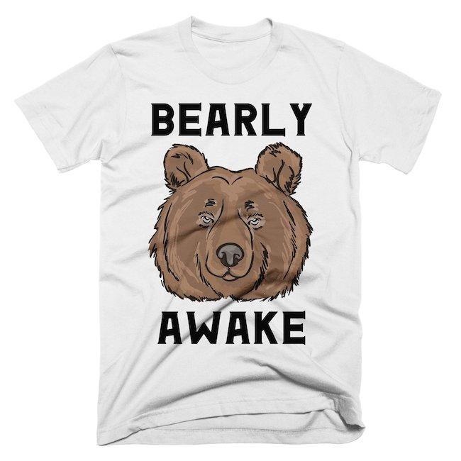 bearly awake tshirt alley and rae