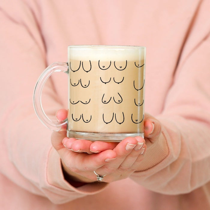 free the nipple boob mug cup