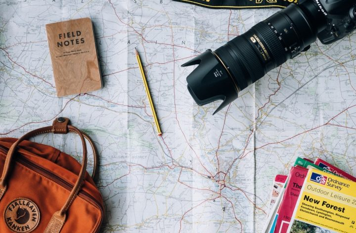 travel camera gear world map