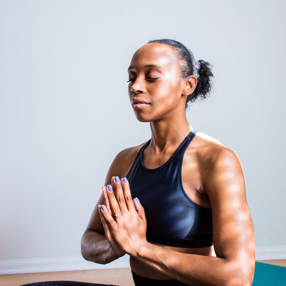 woman meditation and concentrating yoga