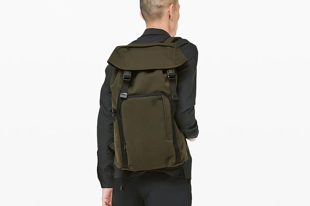 lululemon command the day backpack in green