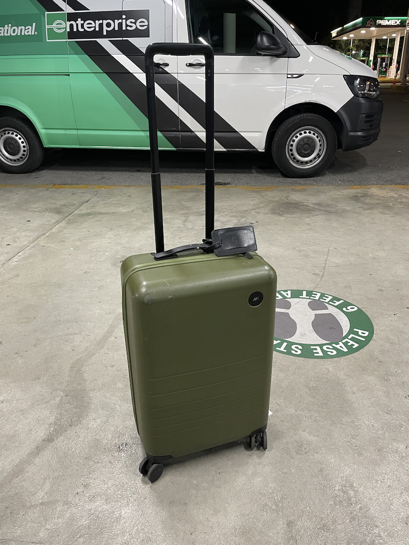 Monos larger carry on luggage